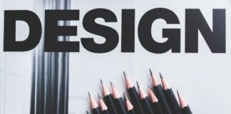 black pencils and design word 6444